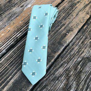 Vtg Woolworth Green Floral Geometric Tie Mens